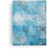 Abstract blue pattern 3 Canvas Print