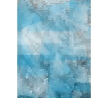 Abstract blue pattern 3 Photographic Print