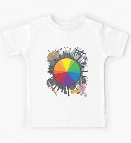Artist Tools - Color Wheel Kids Tee
