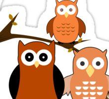 Orange Owls Sticker