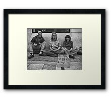Sincerity  Above All!  Framed Print