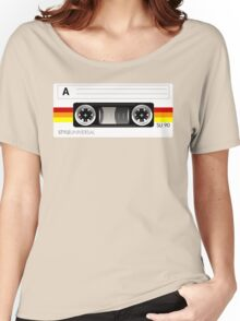 Cassette tape vector design Women's Relaxed Fit T-Shirt