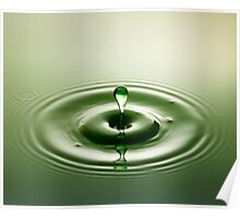 Green Droplet - Water Drops Poster