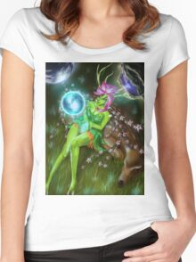 Earth elemental girl Women's Fitted Scoop T-Shirt