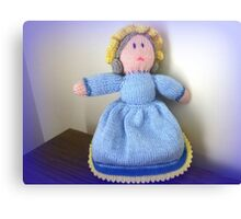 Hand Made knitted Doll  Canvas Print