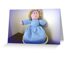 Hand Made knitted Doll  Greeting Card
