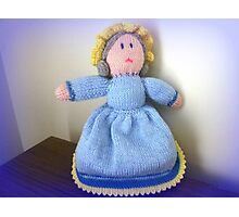 Hand Made knitted Doll  Photographic Print