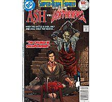 ASH LEATHER FACE EVIL DEAD Photographic Print