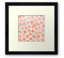 Abstract floral pattern 5 Framed Print