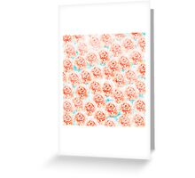 Abstract floral pattern 5 Greeting Card