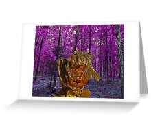 trippy doll purple trees Greeting Card