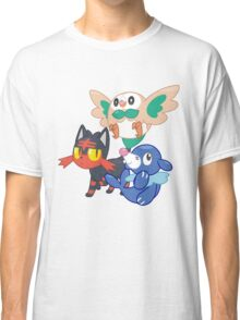 Pokemon Sun and Moon Starters Classic T-Shirt