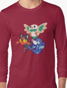 Pokemon Sun and Moon Starters Long Sleeve T-Shirt