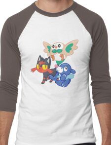 Pokemon Sun and Moon Starters Men's Baseball ¾ T-Shirt