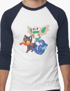 Pokemon Sun and Moon Starters Men's Baseball ¾ T-Shirt