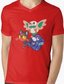 Pokemon Sun and Moon Starters Mens V-Neck T-Shirt