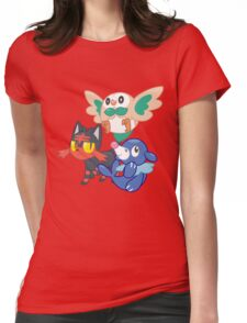 Pokemon Sun and Moon Starters Womens Fitted T-Shirt
