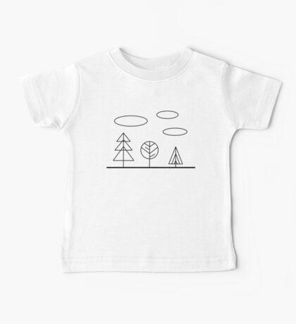 Minimal forest Baby Tee