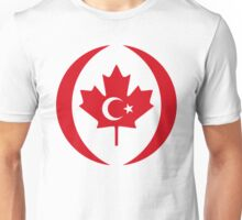Turkish Canadian Multinational Patriot Flag Series Unisex T-Shirt