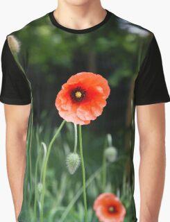 Poppy Flower Graphic T-Shirt