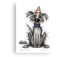Boris the dog Canvas Print