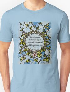 Crown of Thorns by Leslie Berg with Quotation T-Shirt