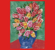 Tulips in a Vase Painting Kids Tee