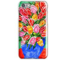Tulips in a Vase Painting iPhone Case/Skin