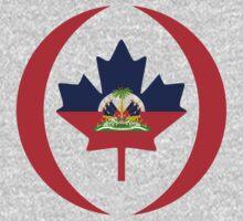 Haitian Canadian Multinational Patriot Flag Series One Piece - Long Sleeve
