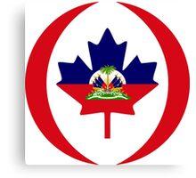 Haitian Canadian Multinational Patriot Flag Series Canvas Print