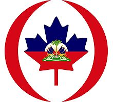 Haitian Canadian Multinational Patriot Flag Series Photographic Print