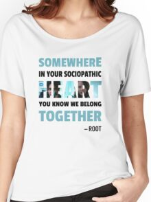sociopathic heart - Root & Shaw Women's Relaxed Fit T-Shirt