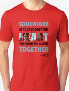 sociopathic heart - Root & Shaw Unisex T-Shirt