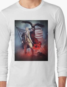 Donald Trump Leading America Out of Hell... Long Sleeve T-Shirt