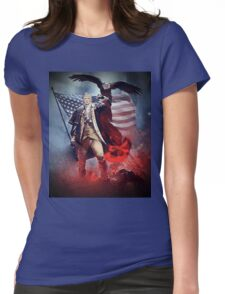 Donald Trump Leading America Out of Hell... Womens Fitted T-Shirt