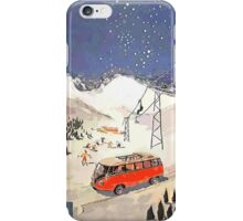 Vintage Samba in the snow iPhone Case/Skin