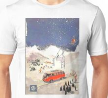 Vintage Samba in the snow Unisex T-Shirt