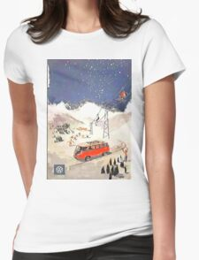 Vintage Samba in the snow Womens Fitted T-Shirt