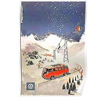 Vintage Samba in the snow Poster