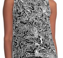 Bodies 2 Figures Doodle in Black and White Contrast Tank