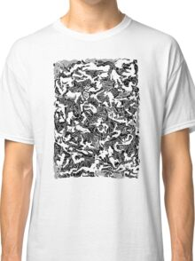 Bodies 2 Figures Doodle in Black and White Classic T-Shirt
