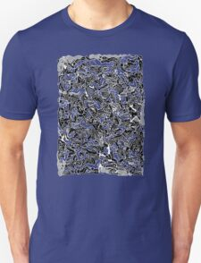 Bodies 2 Figures Doodle in Black and White Unisex T-Shirt