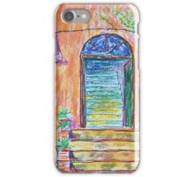 Oil Pastels Sketch - Farmhouse Entrance. 2016 iPhone Case/Skin