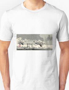 Mimeguri Shrine In Snow - Konen Uehara - 1900 - woocut T-Shirt