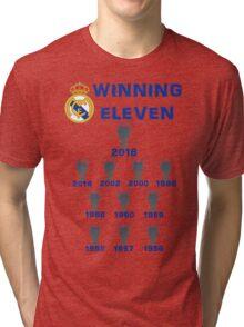 Real Madrid Winning 11 Champions League (A) Tri-blend T-Shirt