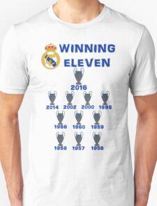Real Madrid Winning 11 Champions League (A) Unisex T-Shirt