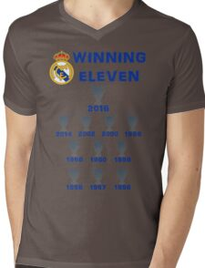 Real Madrid Winning 11 Champions League (A) Mens V-Neck T-Shirt
