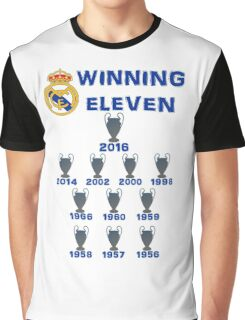 Real Madrid Winning 11 Champions League (A) Graphic T-Shirt