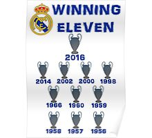Real Madrid Winning 11 Champions League (A) Poster