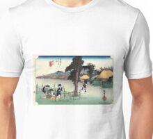 Minakuchi - Hiroshige Ando - 1833 Unisex T-Shirt